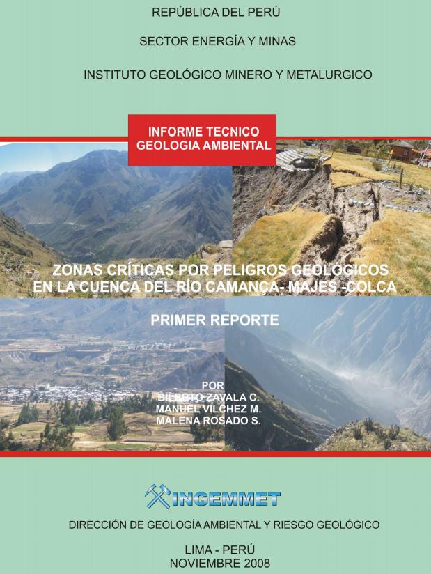 Cuenca del Río Camanca - Majes - Colca